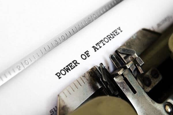 Typewriter that says power of attourney